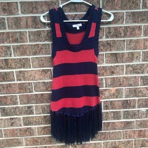 Gianni Bini sweater tank with fringe